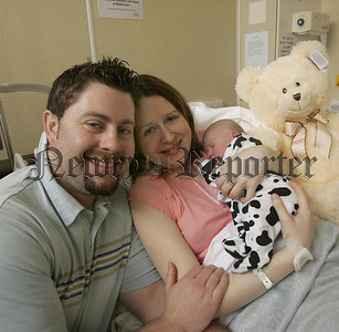 Newrys first New Years Baby Emma Donaghy from Warrenpoint born at  1:35am New Years Day at 7lbs 9ozs pictured with her parents Anne and Damien. 06W1N7