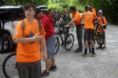Mountain biking at BREC's Comite Bike Trail 5-28-16