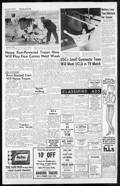 Daily Trojan, Vol. 55, No. 71, February 27, 1964