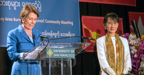 Aung San Suu Kyi - Nancy Pelosi - San Francisco 2012