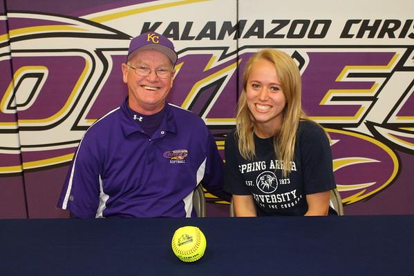 Softball Signing - Hannah - KCHS - 5/12/15