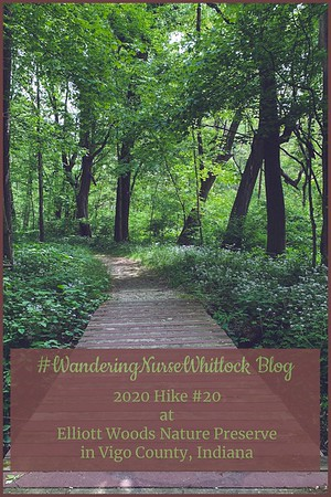 2020 Hike #20 on May 16th at Elliott Woods Nature Preserve within Prairie Creek Park in Vigo County Indiana