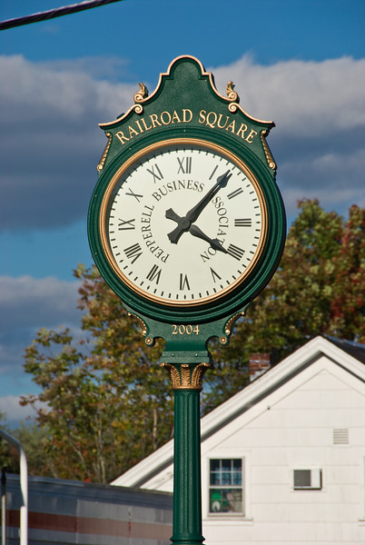 Clock in East Pepperell