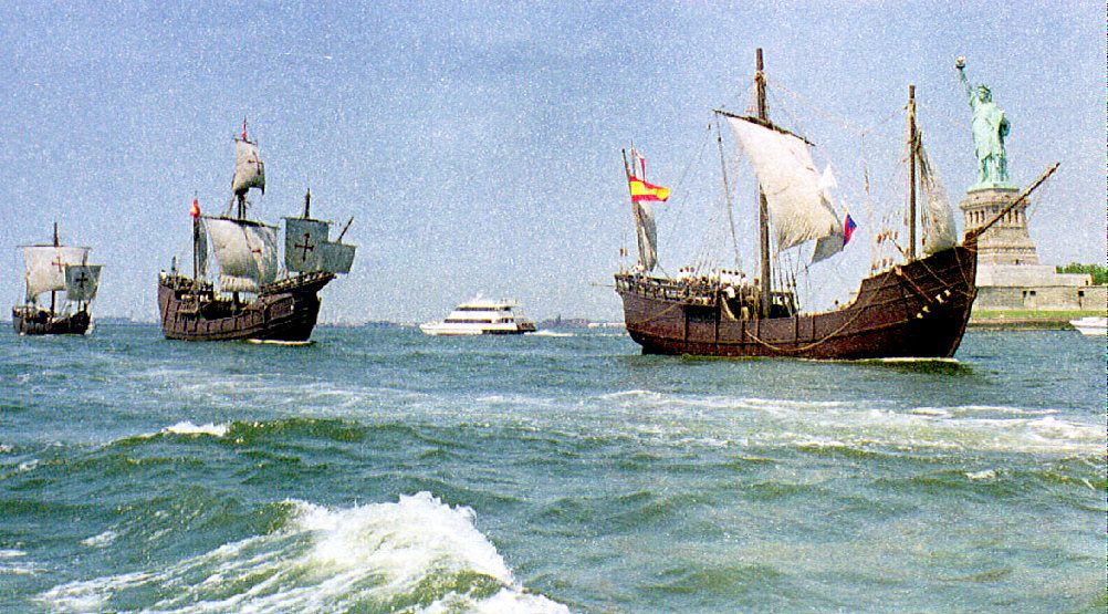 """. <p><b> An underwater archaeologist working off the coast of Haiti believes he found the wreckage of Christopher Columbus� flagship, the � </b> <p> A. Santa Maria <p> B. Pinta <p> C. Indigenous Peoples Boat <p><b><a href=\'http://www.usatoday.com/story/news/world/2014/05/13/newser-columbus-santa-maria-wreck-found/9030493/\' target=\""""_blank\"""">LINK</a></b> <p>   (Maria R. Bastone/AFP/Getty Images)"""