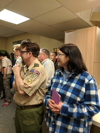 Troop 98 Says Farewell to Pete and Sarah Stobie