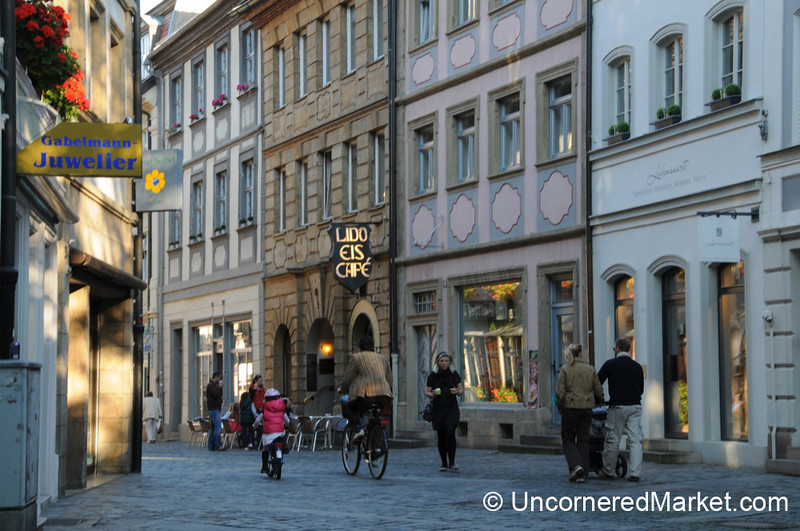 Father and Daughter on Bikes - Bamberg, Germany