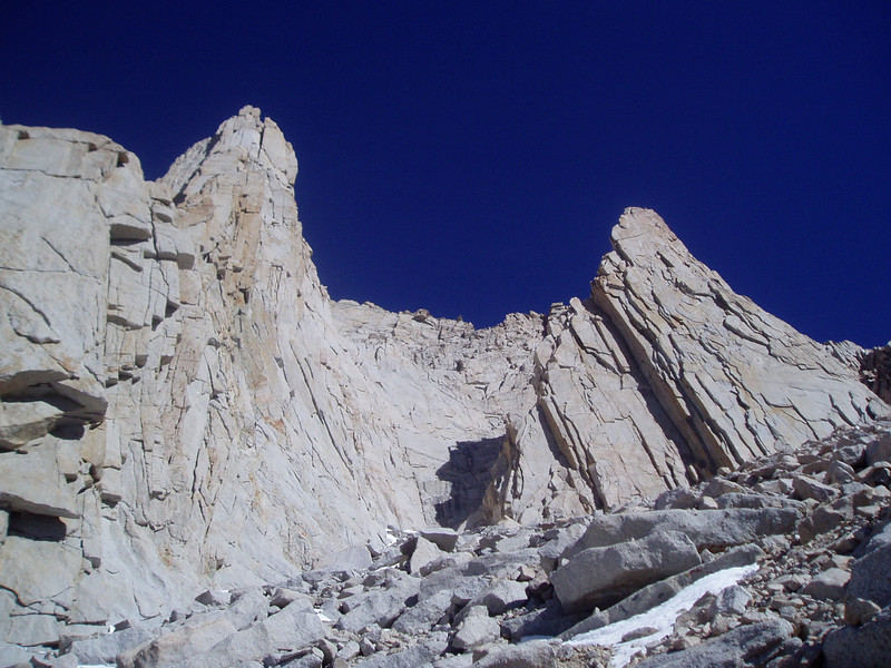 Mt. Russell's summit blocks.