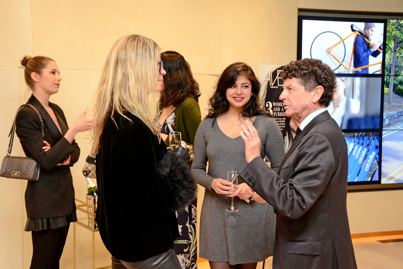 Yvonne Force Villareal, Runal Patel, Michael Gross AVENUE MAGAZINE Presents the SALON DINNER & CONVERSATION about PUBLIC ART Featuring YVONNE FORCE VILLAREAL 10 Hudson Yards NYC, USA - 2017.04.06 Credit: Lukas Greyson