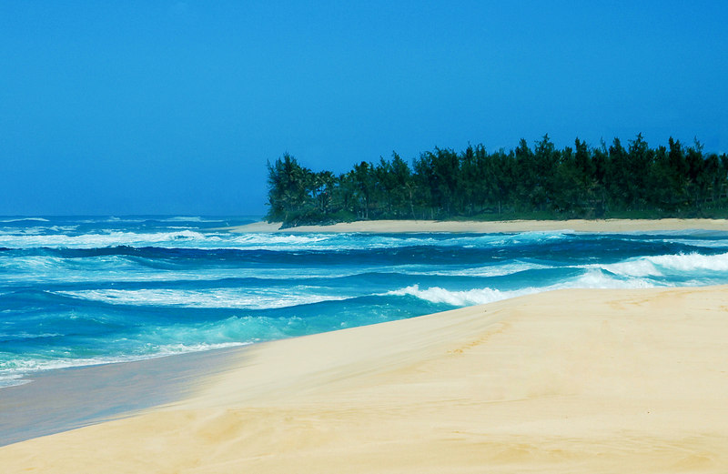 Morning at Sunset Beach on a winters dayNorth Shore  Oahu  Hawaii