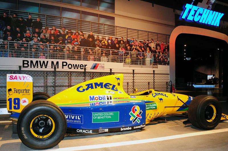 Nurburgring museum Benetton Camel Ford F1 car.jpg