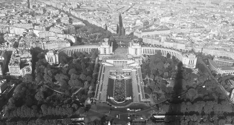 City View from Viewing Deck, Tour Eiffel, Champ de Mars, Paris, France