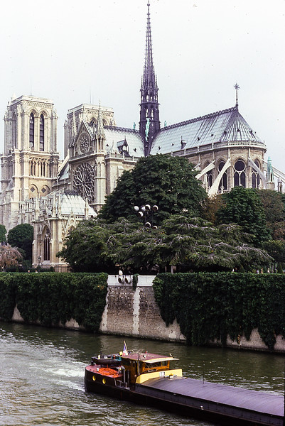 Notre Dame Cathedral, Paris, France, 1977