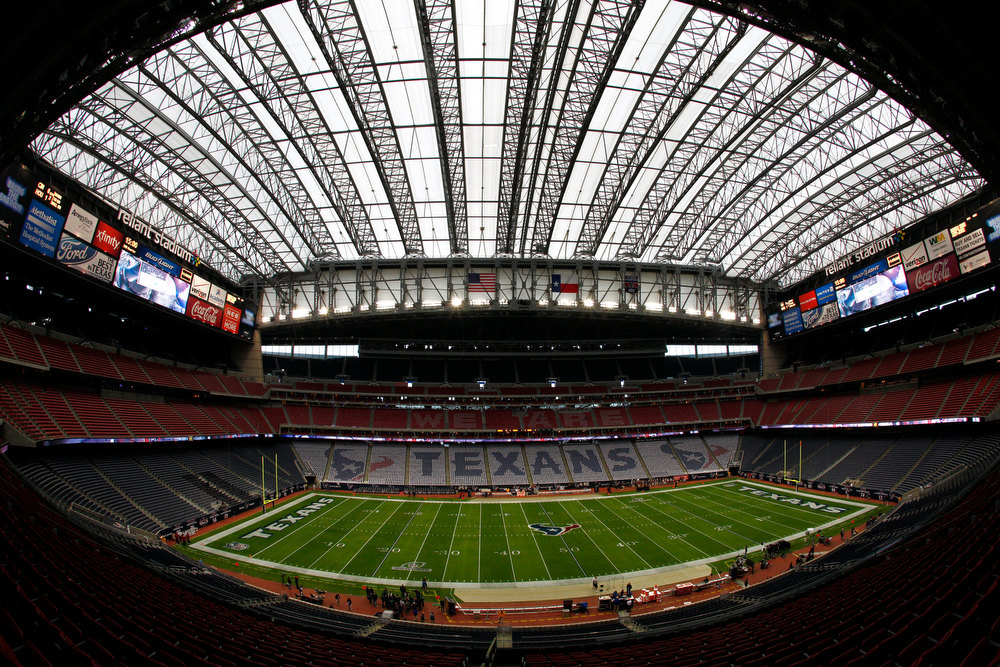 Description of . A general view of an empty stadium prior to the Houston Texans hosting the Cincinnati Bengals during their AFC Wild Card Playoff Game at Reliant Stadium on January 5, 2013 in Houston, Texas.  (Photo by Bob Levey/Getty Images)