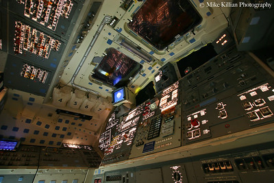 Space Shuttle Endeavour Flight Deck Power Up