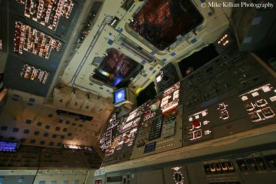 Space Shuttle Endeavour Flight Deck Power Up