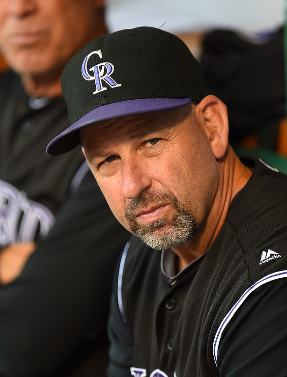 . PITTSBURGH, PA - MAY 20:  Manager Walt Weiss #22 of the Colorado Rockies looks on prior to the game against the Pittsburgh Pirates on May 20, 2016 at PNC Park in Pittsburgh, Pennsylvania.  (Photo by Joe Sargent/Getty Images)