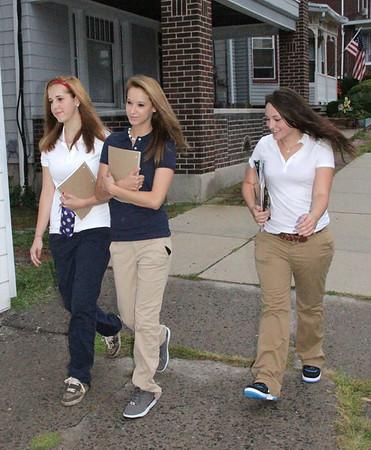 Girls Walking to School, Mauch Chunk St, Tamaqua (8-27-2012)