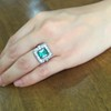 1.60ctw Emerald and Diamond Cocktail Ring 21