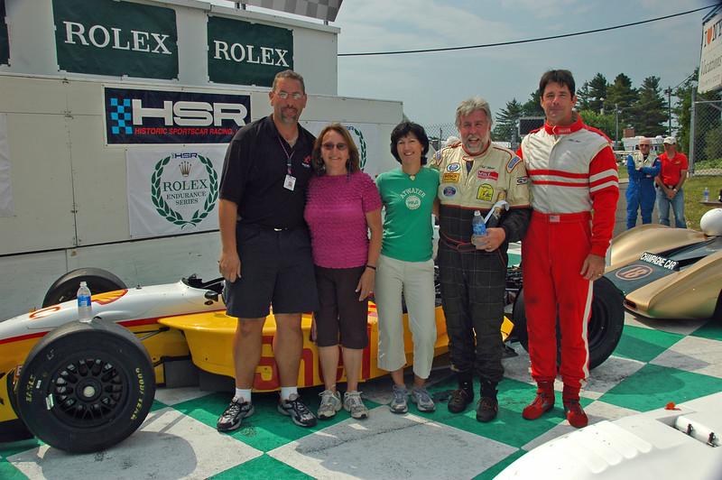 Winner's Circle/ Bill Hart / Lola Champcar /  Wayne,Joy,Sharon, Ted, Bill