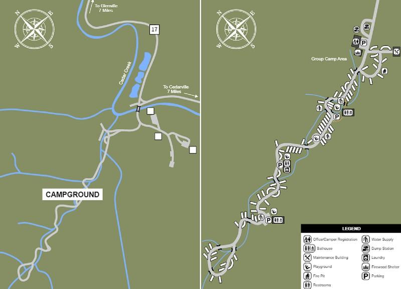 Cedar Creek State Park (Campground Map)