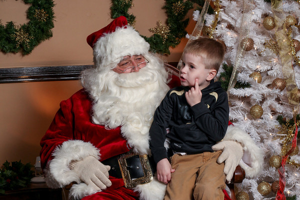 Wyatt photos with Santa!