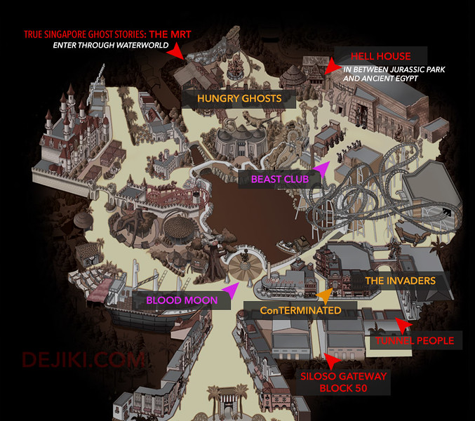 Halloween Horror Nights 5 Park Map