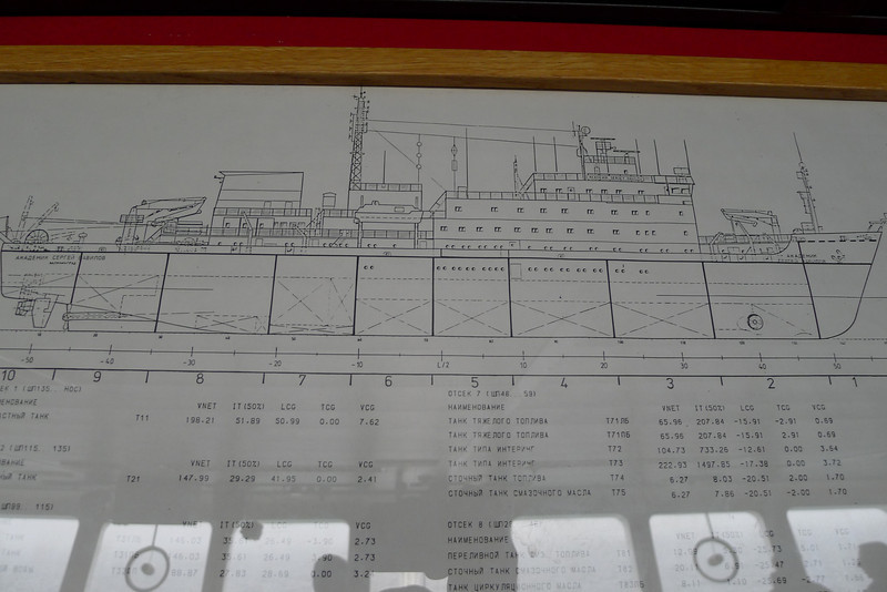 Antarctica - The ship, Sergey Vavilov for the Circle Trip, Jan 2013:  Sergey Vavilov ship drawing
