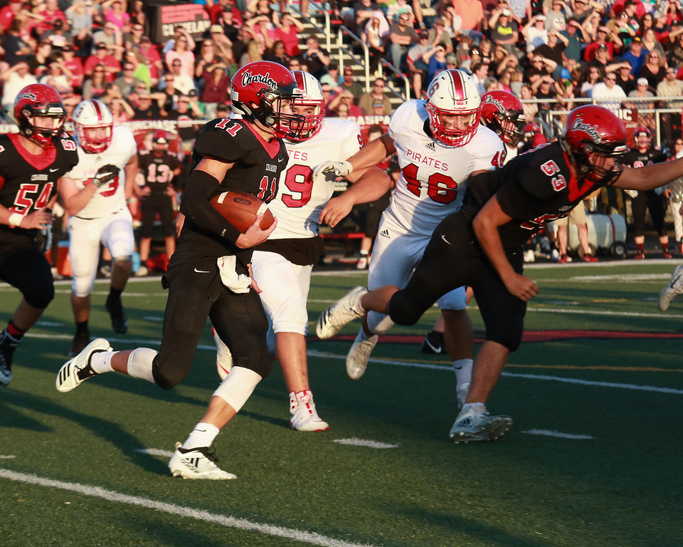 . Colleen Moskowitz - The News-Herald Action from Perry\'s game at Chardon Aug. 31. Chardon won, 49-43, in overtime.