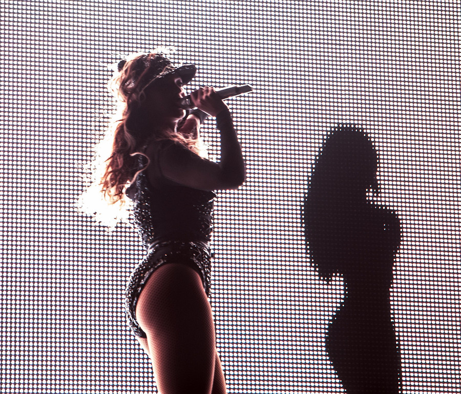 ". On Wednesday July 10, 2013, Beyonce performs on her ""Mrs. Carter Show World Tour 2013\"" at the BB&T Center in  Ft. Lauderdale, Fla.  (Photo by Robin Harper/Invision for Parkwood Entertainment/AP Images)"