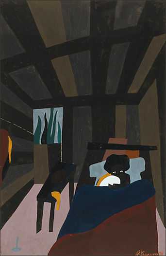 "Jacob Lawrence, ""The Life of Toussaint L'Ouverture No. 6"" (1938)"