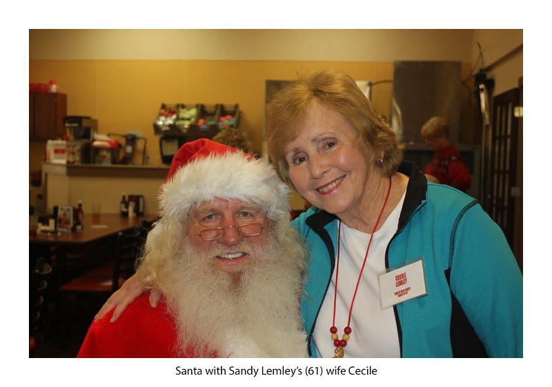 Santa and Cecile Lemley, wife of Donnie Lemley '61.jpg