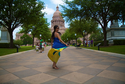 June and Ricky visit the Texas State Capitol