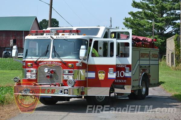 Schuylkill County - E. Union Twp. - MedEvac 7 Landing - 7/16/2012