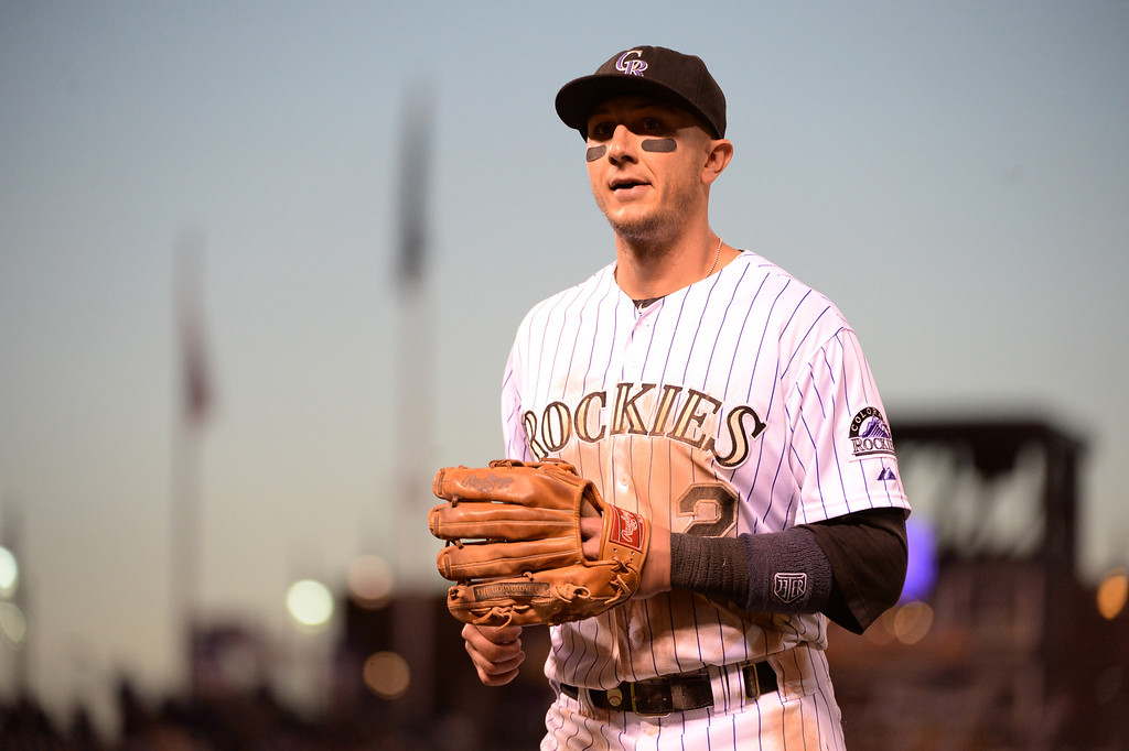 . DENVER JUNE 06: Troy Tulowitzki of Colorado Rockies (2) is in the game against Los Angeles Dodgers at Coors Field in Denver, Colorado June 6, 2014. (Photo by Hyoung Chang/The Denver Post)