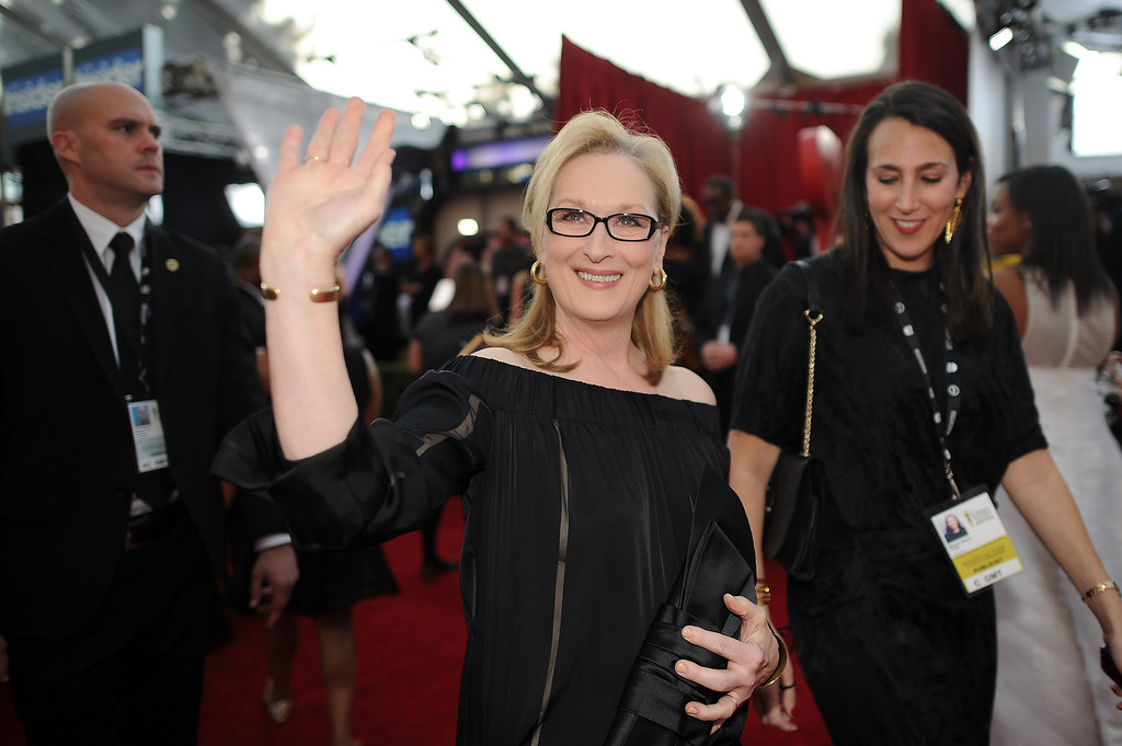 . Meryl Streepon the red carpet at the 20th Annual Screen Actors Guild Awards  at the Shrine Auditorium in Los Angeles, California on Saturday January 18, 2014 (Photo by Hans Gutknecht / Los Angeles Daily News)