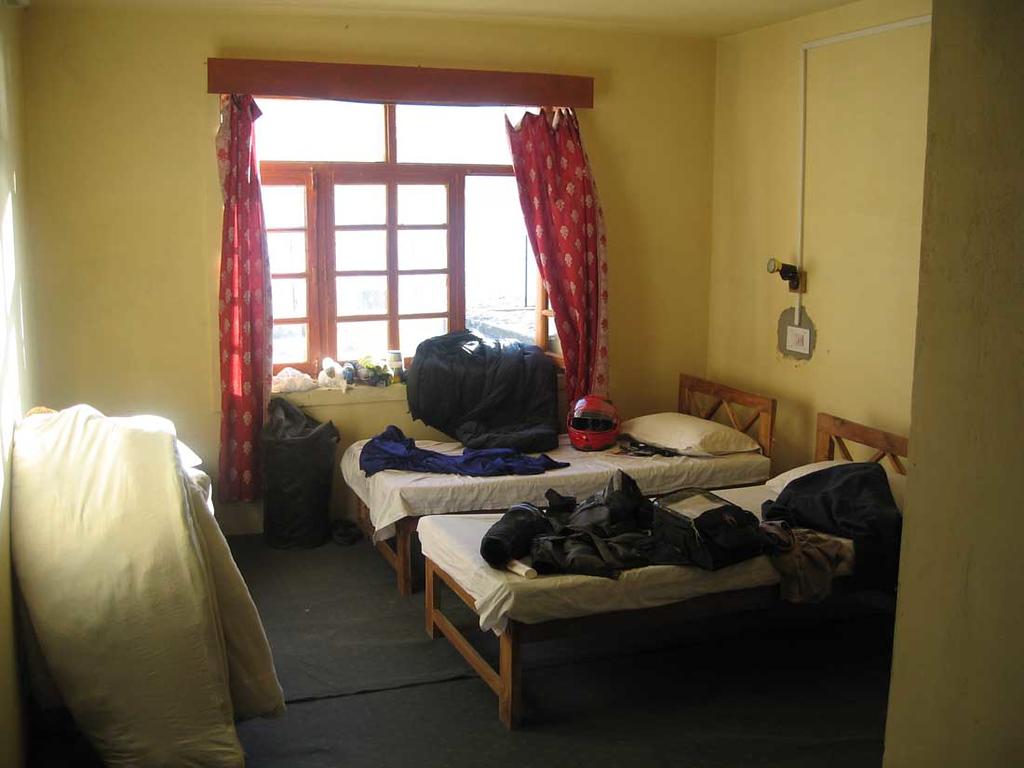 Pangong Tso lodge room invaded by Belgians