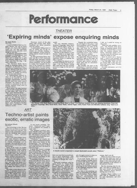 Daily Trojan, Vol. 108, No. 49, March 24, 1989