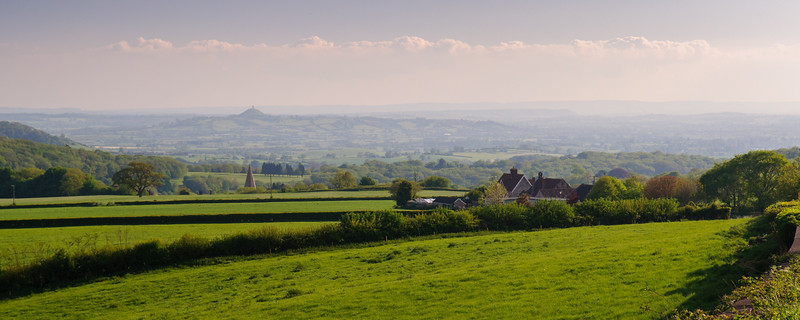 Glastonbury Tor and the Somerset Levels