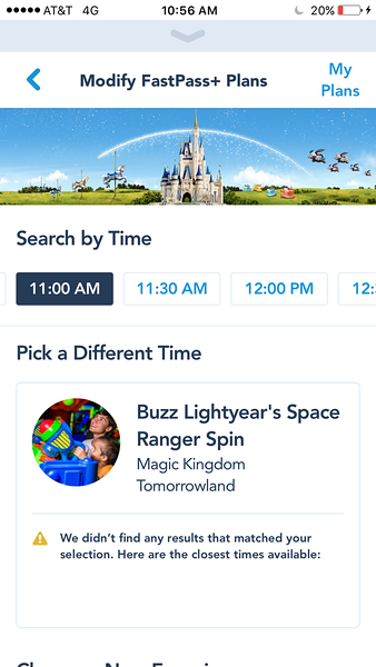 Buzz Lightyear No More FP+ Reservations - Magic Kingdom Walt Disney World