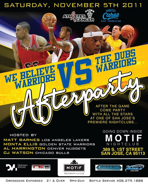 11/5 [We Believe Warriors Vs The Dubs Warriors afterparty @Motif]