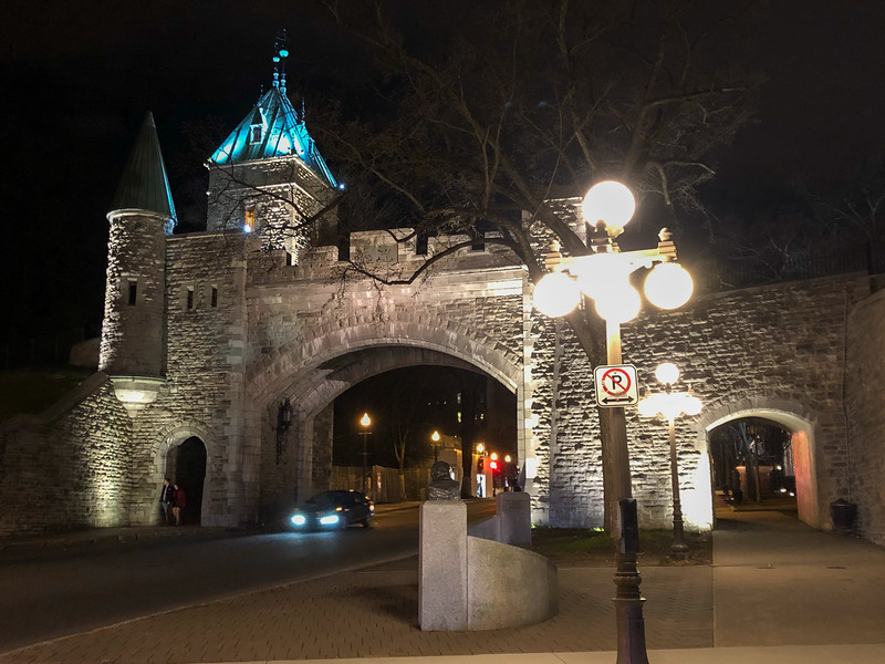 Quebec City walls at night