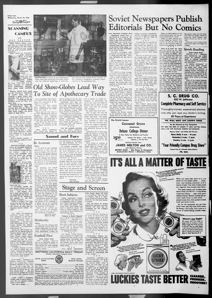 Daily Trojan, Vol. 45, No. 90, March 10, 1954