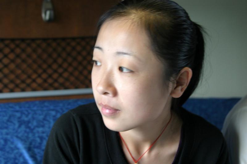 Xian station, watching from inside the train Qinghai -Beijing to Tibet Railway, Beijing to Lhasa  Oct  2006