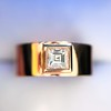 0.40ct Carre Cut Rose Gold Band 16