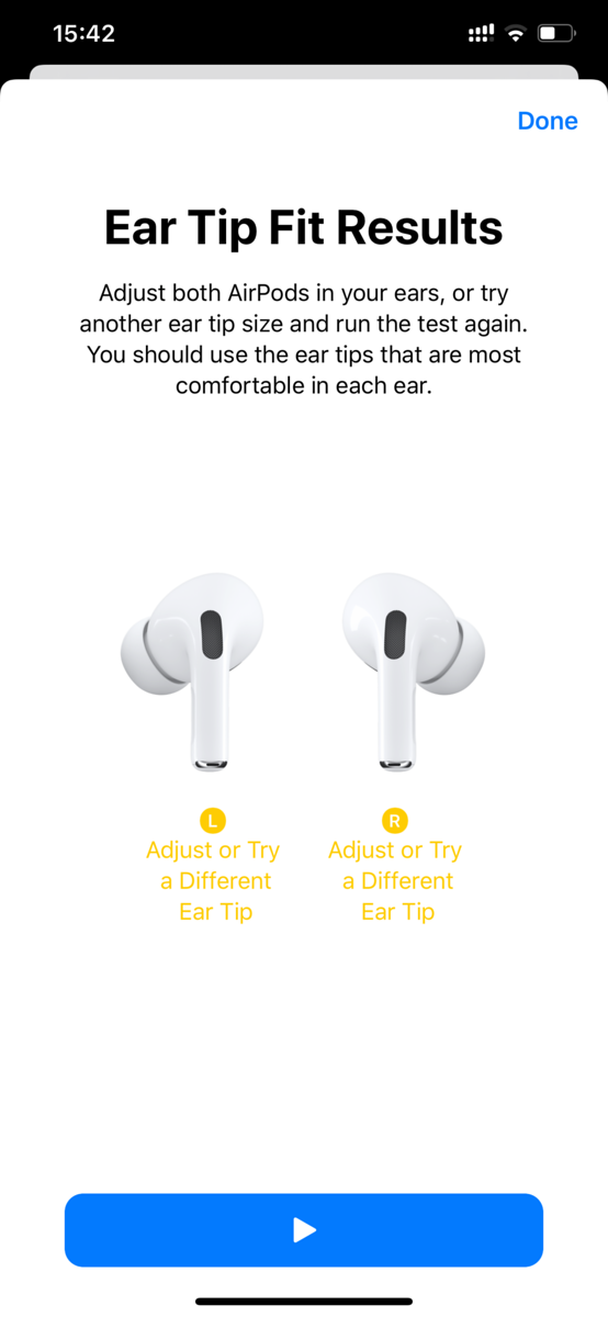 AirPods Pro Ear Tip Fits Test Show YELLOW Results