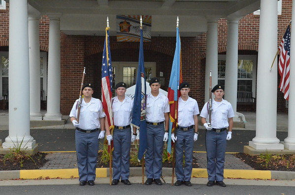 Color Guard at the Independence Assisted Living Veterans Day Service