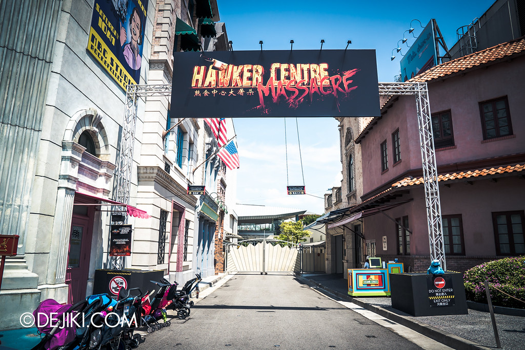 Universal Studios Singapore - Halloween Horror Nights 6 Before Dark Day Photo Report 4 - Hawker Centre Massacre entrance