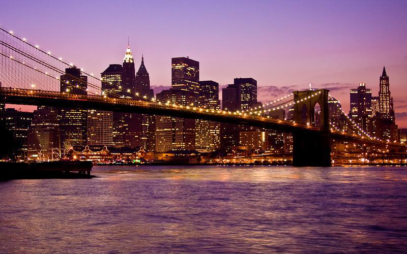 The Brooklyn Bridge & Lower Manhattan