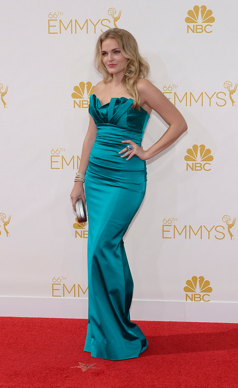 . Madeline Brewer on the red carpet at the 66th Primetime Emmy Awards show at the Nokia Theatre in Los Angeles, California on Monday August 25, 2014. (Photo by John McCoy / Los Angeles Daily News)