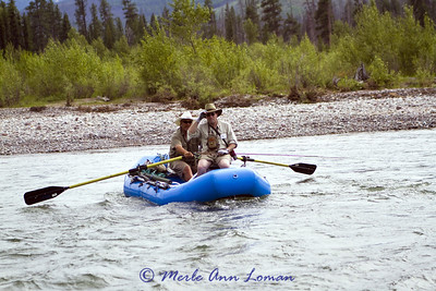 2011 South Fork of the Flathead River, Bob Marshall Wilderness, crossing the river to fish